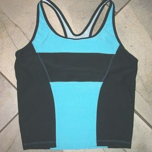 NIKE Blue w Black Trim Dri-Fit Racerback Top M